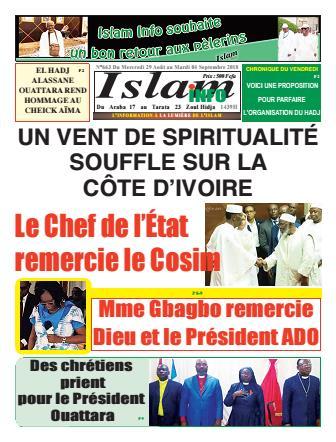 Couverture du Journal ISLAM INFO N° 663 du 30/08/2018