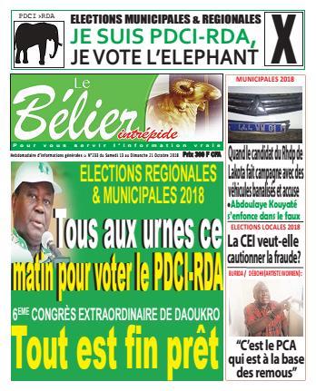 Couverture du Journal LE BELIER INTREPIDE N° 233 du 13/10/2018