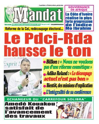 Couverture du Journal LE MANDAT N° 2490 du 31/10/2018