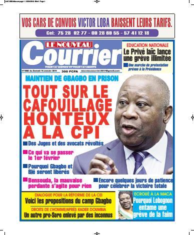 Couverture du Journal LE NOUVEAU COURRIER N° 2004 du 22/01/2019