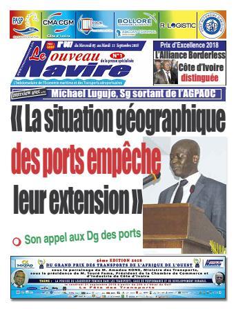 Couverture du Journal LE NOUVEAU NAVIRE N° 587 du 05/09/2018