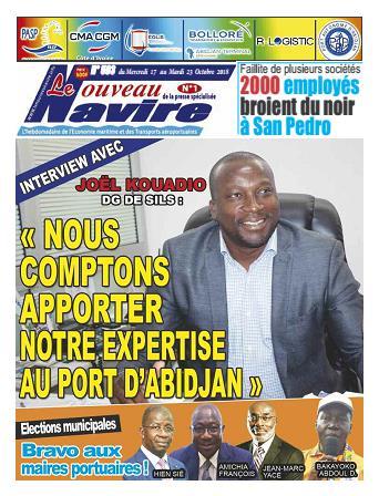Couverture du Journal LE NOUVEAU NAVIRE N° 593 du 17/10/2018