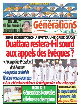 Couverture du Journal Générations nouvelles N° 335 du 21/01/2020