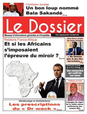 Couverture du Journal Le Dossier N° 34 du 05/01/2020