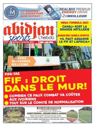 Couverture du Journal Abidjan Sports N° 31 du 11/01/2021