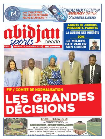 Couverture du Journal Abidjan Sports N° 33 du 19/01/2021