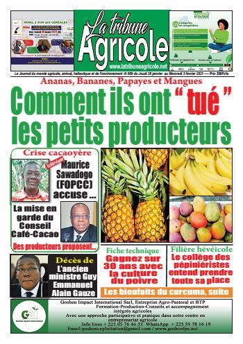 Couverture du Journal La Tribune Agricole N° 9 du 28/01/2021