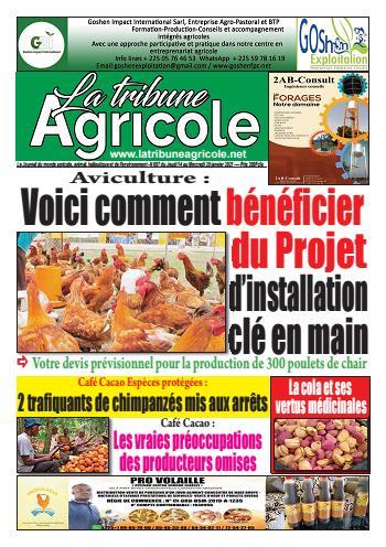 Couverture du Journal La Tribune Agricole N° 7 du 14/01/2021