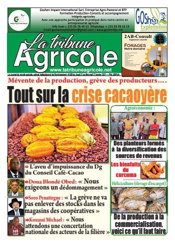 Couverture du Journal La Tribune Agricole N° 8 du 21/01/2021