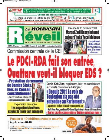 Couverture du Journal LE NOUVEAU RÉVEIL N° 5675 du 30/01/2021