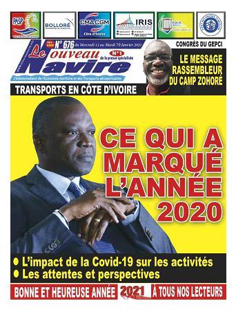 Couverture du Journal LE NOUVEAU NAVIRE N° 676 du 13/01/2021