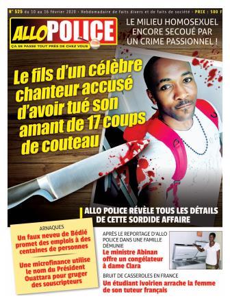 Couverture du Journal ALLO POLICE N° 525 du 10/02/2020
