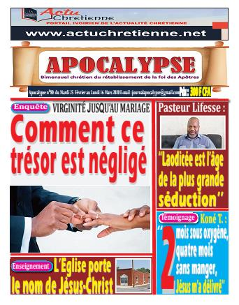 Couverture du Journal APOCALYSE N° 80 du 25/02/2020