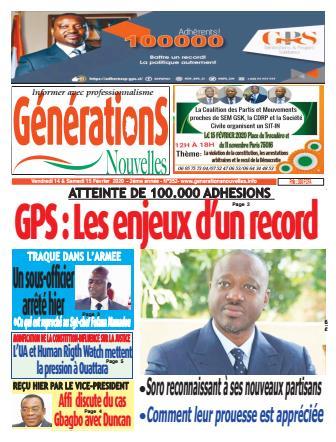 Couverture du Journal Générations nouvelles N° 352 du 14/02/2020
