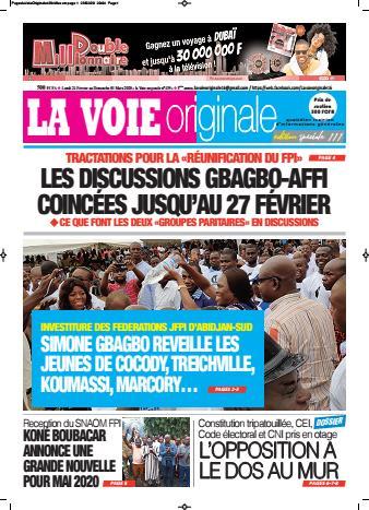 Couverture du Journal LA VOIE ORIGINALE N° 439 du 24/02/2020