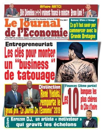 Couverture du Journal LE JOURNAL DE L'ÉCONOMIE N° 555 du 10/02/2020