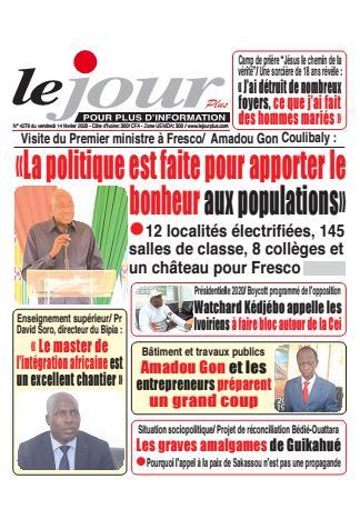 Couverture du Journal LE JOUR PLUS N° 4279 du 14/02/2020