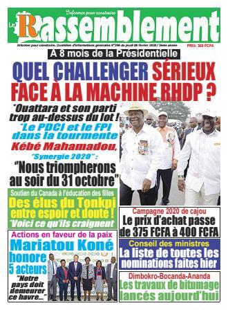 Couverture du Journal LE RASSEMBLEMENT N° 397 du 06/02/2020