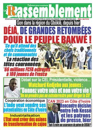 Couverture du Journal LE RASSEMBLEMENT N° 402 du 14/02/2020