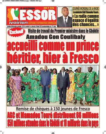 Couverture du Journal L'ESSOR IVOIRIEN N° 293 du 14/02/2020