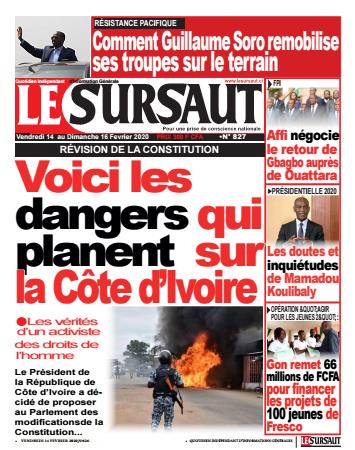 Couverture du Journal LE SURSAUT N° 827 du 14/02/2020