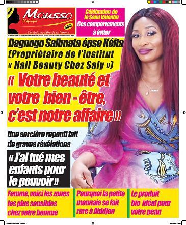 Couverture du Journal MOUSSO D'AFRIQUE N° 785 du 10/02/2020