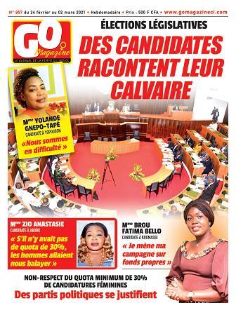 Couverture du Journal GO MAGAZINE N° 857 du 24/02/2021