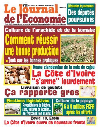 Couverture du Journal LE JOURNAL DE L'ÉCONOMIE N° 609 du 22/02/2021