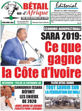 Couverture du Journal BÉTAIL D'AFRIQUE N° 2 du 20/03/2020
