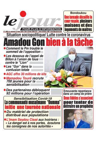 Couverture du Journal LE JOUR PLUS N° 4309 du 27/03/2020