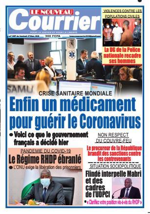 Couverture du Journal LE NOUVEAU COURRIER N° 2087 du 27/03/2020
