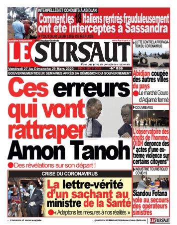 Couverture du Journal LE SURSAUT N° 856 du 27/03/2020