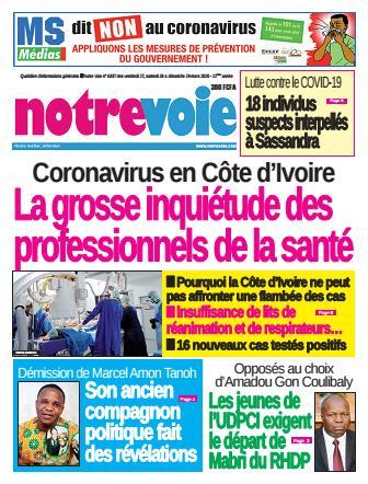 Couverture du Journal NOTRE VOIE N° 6337 du 27/03/2020