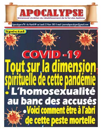 Couverture du Journal APOCALYSE N° 81 du 09/03/2021