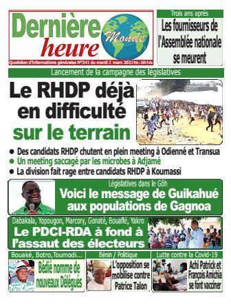 Couverture du Journal DERNIERE HEURE N° 241 du 02/03/2021