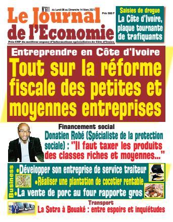 Couverture du Journal LE JOURNAL DE L'ÉCONOMIE N° 611 du 08/03/2021