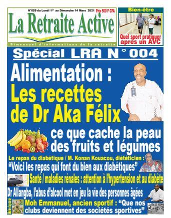 Couverture du Journal LA RETRAITE ACTIVE N° 59 du 01/03/2021
