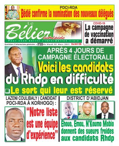 Couverture du Journal LE BÉLIER INTRÉPIDE N° 408 du 02/03/2021