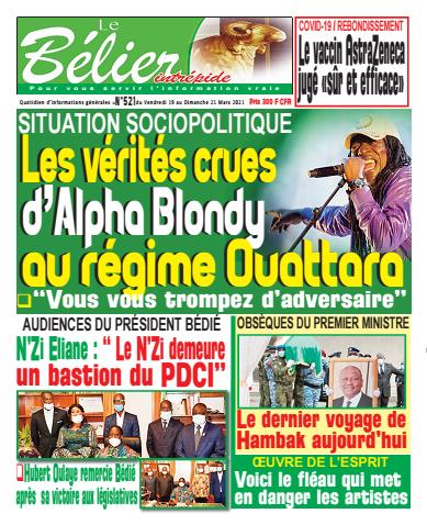 Couverture du Journal LE BÉLIER INTRÉPIDE N° 522 du 19/03/2021