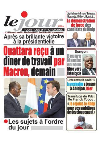 Couverture du Journal LE JOUR PLUS N° 4552 du 02/03/2021