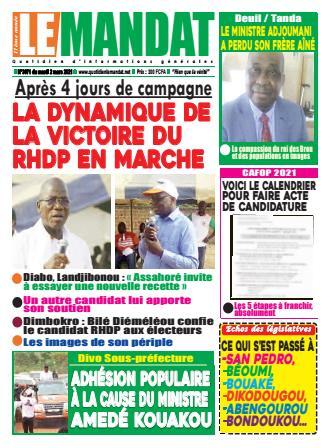 Couverture du Journal LE MANDAT N° 3041 du 02/03/2021