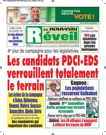 Couverture du Journal LE NOUVEAU RÉVEIL N° 5701 du 02/03/2021
