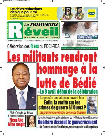Couverture du Journal LE NOUVEAU RÉVEIL N° 5721 du 25/03/2021