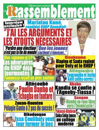 Couverture du Journal LE RASSEMBLEMENT N° 658 du 02/03/2021