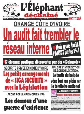 Couverture du Journal L'ÉLÉPHANT DÉCHAINÉ N° 636 du 02/04/2019