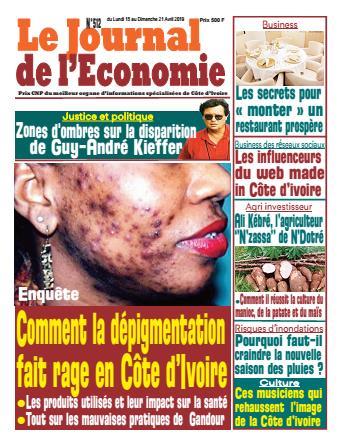 Couverture du Journal LE JOURNAL DE L'ÉCONOMIE N° 512 du 15/04/2019