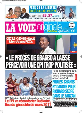 Couverture du Journal LA VOIE ORIGINALE N° 394 du 15/04/2019