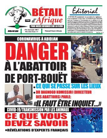 Couverture du Journal BÉTAIL D'AFRIQUE N° 3 du 14/04/2020