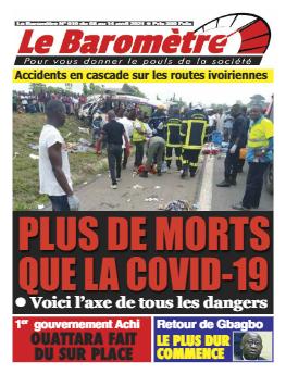 Couverture du Journal LE BAROMETRE N° 10 du 08/04/2021