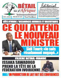 Couverture du Journal BÉTAIL D'AFRIQUE N° 9 du 19/04/2021